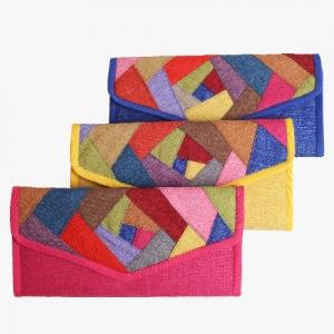 색동조각  대 마 장지갑