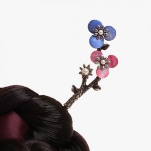 새순 꽃나무 뒤꽂이(청분홍)