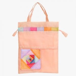 모시 에코 가방(홍황색)
