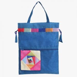모시 에코 가방(담청색)