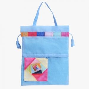 모시 에코 가방(천청색)