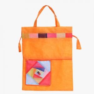 모시 에코 가방(주홍색)