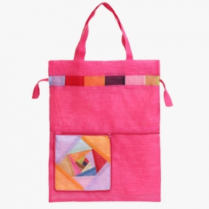 모시 에코 가방(선홍색)