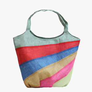 모시 오색 가방(옥색)