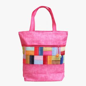 모시조각 가방(선홍색)