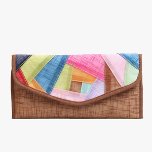 모시조각 장지갑(토색)