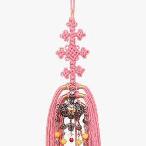 낙지 왕관 노리개(분홍색)
